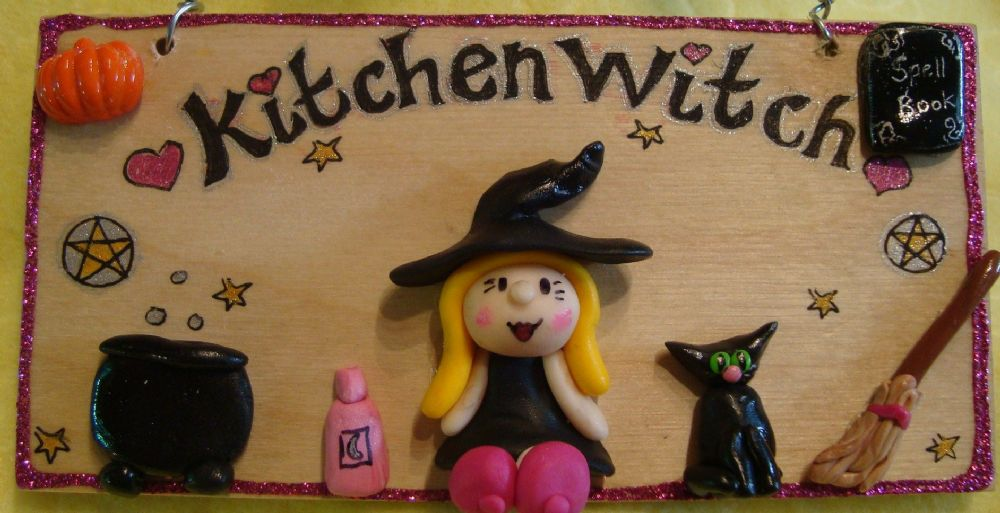 3d Personalised Witch Wooden Sign Any Phrasing Handmade Unique Item Customised Witches Kitchen Plaque Halloween Samhain Pagan Wicca
